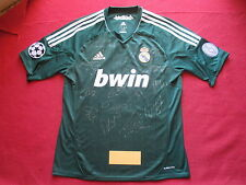 REAL MADRID 14 HAND SIGNED 2012-13 LEAGUE AWAY SHIRT- NEW - PROOF - COA RONALDO