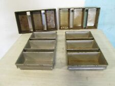 "LOT OF (4) ""EKCO/GLACO"" H.D. COMMERCIAL (3) BREAD LOAVES STRAPPED BAKING PANS"