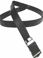 NO HOLES Men's Heavy Duty Durable Automatic Buckle PU Leather Belt Black by Reed