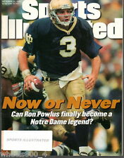 1996 Sports Illustrated Notre Dame QB Ron Powlus Subscription Issue Excellent