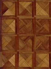 Dollhouse Miniature 1:24 Scale Parquet Walnut Wood Flooring Kit