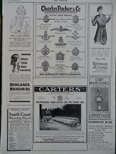 1915 ADVERTS GOLD MILITARY BADGES, FRONT LINE HAND-LITTERS STRETCHERS WW1 WWI