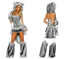 Animal Cosplay Set Halloween Cosplay Costumes Women Sexy Wolf Cosplay 6 PCS Set