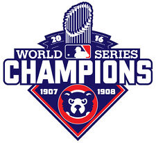 NEW! MLB Chicago Cubs Sticker Decal WORLD SERIES CHAMPS! 1907, 1908 & 2016