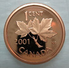 2001 CANADA 1 CENT PROOF PENNY COIN - A