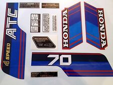 ATC 70 1985 tanque cuadro Fender calcomanías Kit Stickers Kit Honda Trike