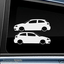 (259) 2x Fun Sticker Aufkleber /  Low and Slow Seat Ibiza 6L Cupra