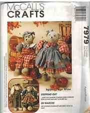 "7979 UNCUT McCalls Vintage SEWING Pattern Craft Faye Wine Bears Bunnies 18"" OOP"