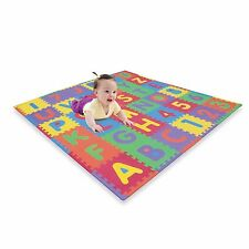 Thick Foam ABC Numbers Floor Puzzle Pad Soft Colorful Baby Play Room Nursery Mat