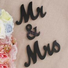 Mr and Mrs Sign Letters Black Wooden Standing Top Table Wedding Decoration