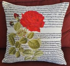 Vintage Square Polyester Decorative Rose Cushion Cover/Pillow Case