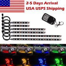 Multi-color RGB 18 Colors Motorcycle ATV Flexible LED Neon Light Strips Kit USPS