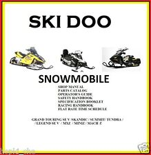 SKI DOO SNOWMOBILE 2003 SERVICE PACK  PARTS  OPERATOR'S  SPECIFICATION ALL MODEL