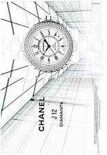PUBLICITE ADVERTISING 2006   CHANEL  collection J 12 diamants montres  (2 pages)