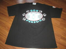 DOG PERSON VINTAGE 80S CARTOON STYLE TEE SHIRT DOG LOVER 80S MED CLEAN