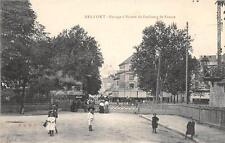 CPA 90 BELFORT PASSAGE A NIVEAU FAUBOURG DE FRANCE (TRAIN QUI PASSE