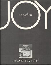 ▬► PUBLICITE ADVERTISING AD Parfum Perfume JEAN PATOU Joy
