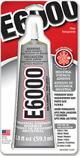E-6000 Craft Glue Resins Metals Crystals Glass Stainless Steel Leather  USA Made