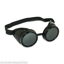 "Black Steampunk Welding Cup Goggles Style ""B"""