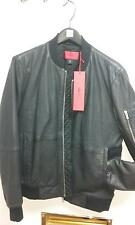 """NEW"" HUGO BOSS LEATHER JACKET BLACK , SIZE SMALL"