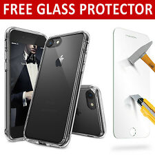 Hybrid New Shockproof Case & Glass Protector Cover For Apple iPhone 7 5s 6s SE