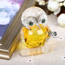 Crystal Glass Owl Animal Figurines Paperweights Wedding Collectibles Gifts Decor