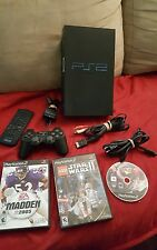 PS2 Playstation 2 Fat Console 3 games 1 controller dvd remote all cords bundle