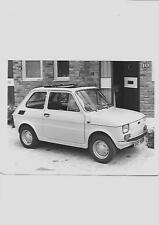 "FIAT 126 PRESS PHOTO  AND PRESS RELEASE ""SALES BROCHURE"" SEPTEMBER 1974 FOR 1975"