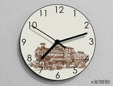 Train Wall Clock - Kids Nursery Room,Teens Room - Wall Clock