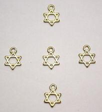 10 X Schmuck Herstellungs Handwerk Gold Star Von David Anhänger Böse Auge 13mm