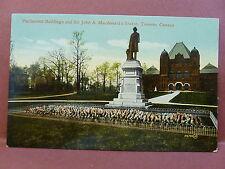 Old Postcard Canada Ontario Toronto Parliament Buildings Sir John Macdonald