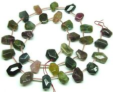 ~35 NATURAL MIXED COLORS Tourmaline Nugget Beads ap6x10mm K4719