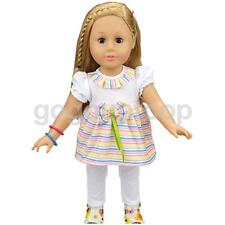 White Top & Pants Clothes for 18'' American Girl Our Generation My Life Doll