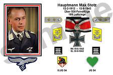 aviation art luftwaffe pilot photo postcard Max Stotz colour WW2 JG 54