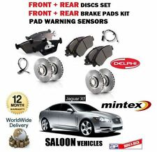 FOR JAGUAR XF 2.7TD 3.0 4.2 2008-> FRONT + REAR BRAKE DISCS SET + PADS + SENSORS