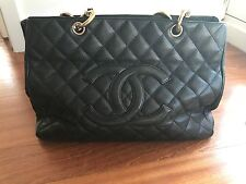 Chanel Black Caviar Quilted Timeless Shopper Tote Bag 61891