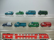 F318-0,5# 8x WIKING H0 Modelle VW Bus Transporter, Caddy+ Golf, 2x Polizei