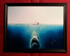 Jaws Movie Poster Framed Art Print Horror Sci Fi Memorabilia Gift Present Shark