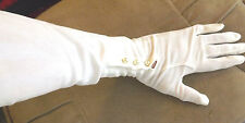 Vintage Pair of Women's White Evening Gloves w Flux Pears