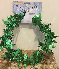 Christmas TREE Decoration - 9 Feet Long Wire Garland - GREEN (5 Count)
