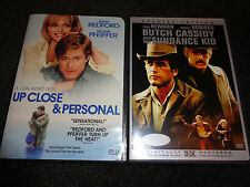UP CLOSE & PERSONAL w/BUTCH CASSIDY & SUNDANCE KID-2 DVDs-ROBERT REDFORD