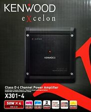 NEW Kenwood X301-4 eXcelon Series Bridgeable 4-channel Amplifier