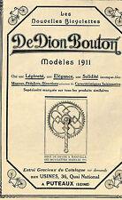 PUTEAUX BICYCLETTE BICYCLE DE DION BOUTON PUBLICITE 1911