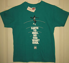 NIKE Kids Shirt S (6-8) Michael Jordan Earth To Mike Do You Read VTG HTF RARE