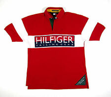 90S VTG TOMMY HILFIGER SAILING GEAR POLO SHIRT LOTUS USA SPORT NAUTICAL 93 93 L