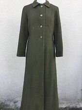 TRUE VINTAGE BRONZE GOLD METALLIC LAME Wool BLACK RIDING COAT M L 14 16 MILITARY