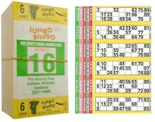 750 BOOKS 6 PAGE GAME STRIPS OF 6 TV JUMBO BINGO TICKET SHEET BIG BOLD NUMBERS