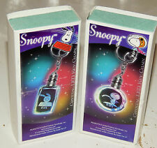 2 Different Peanuts Snoopy Crystal LED Lighted Key Chain Collectible