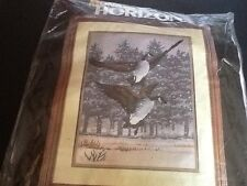 CANADA GEESE Needlepoint Kit Winter Snow Vintage 1984 Monarch Horizons #3GW2