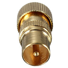 Gold Plated PAL Male Jack TV Aerial Connector RF Antenna Coax Cable Plug Adapter